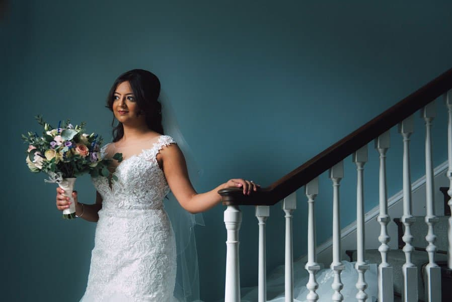 Wedding photography at stanbrook abbey of Kiran and Amrita