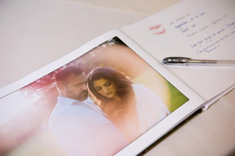 guest book of verinder and praveen