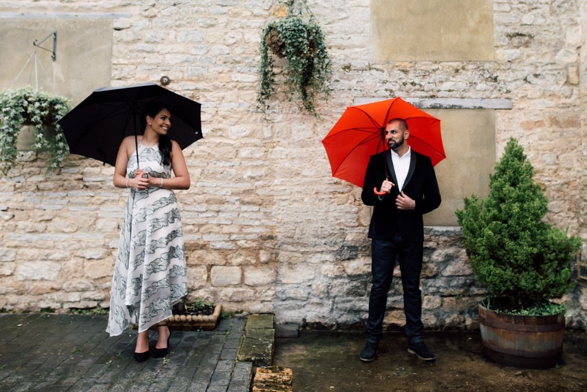 pre wedding shoot in the rain